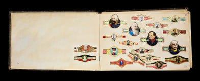 Vieilles étiquettes des cigares Photographie stock libre de droits