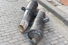 Vieilles armes à feu à La Havane images stock