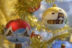 Vieilles babioles de Noël Image stock