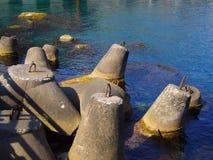 Vieilles balises de ciment Photographie stock libre de droits