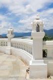 Vieilles balustrades de château d'architecture antique Photos libres de droits