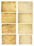 Vieilles bannières de papier de vintage réglées Images libres de droits