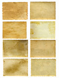 Vieilles bannières de papier de vintage réglées Images stock