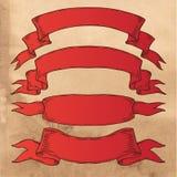Vieilles bannières de ruban illustration stock