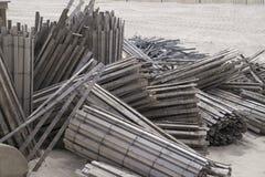 Vieilles barrières de plage photographie stock