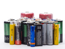 Vieilles batteries Photo libre de droits