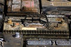 Vieilles batteries photographie stock