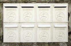 Vieilles boîtes aux lettres Photo stock
