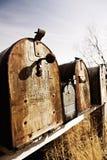 Vieilles boîtes aux lettres américaines dans Midwest Image libre de droits