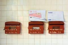 Vieilles boîtes aux lettres de Kuala Lumpur Chinatown Image libre de droits