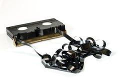 Vieilles bonnes cassettes vidéo Enregistrements poussiéreux de famille sur des données solides photos libres de droits