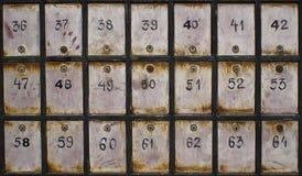 Vieilles boîtes aux lettres Photographie stock libre de droits