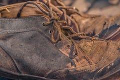 Vieilles bottes de vintage Photos stock