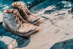 Vieilles bottes de vintage Photographie stock libre de droits