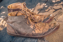 Vieilles bottes de vintage Image stock