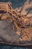 Vieilles bottes de vintage Photographie stock