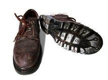 Vieilles bottes sales Photographie stock