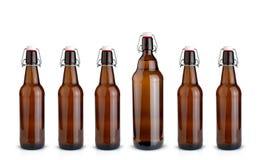 Vieilles bouteilles brunes Photos libres de droits