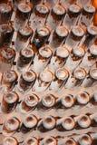 Vieilles bouteilles de champagne images stock