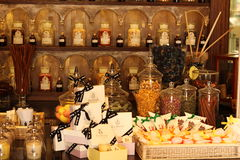 Vieilles bouteilles de parfum Photo stock