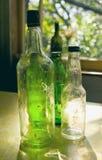 Vieilles bouteilles en verre Photo stock