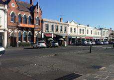 Vieilles boutiques Williamstown photo libre de droits