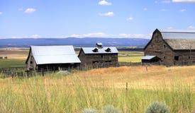 Vieilles cabanes abandonnées, l'état de Washington. image stock