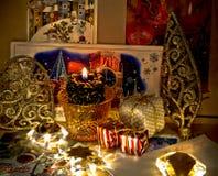 Vieilles cartes de Noël dans l'album Image libre de droits