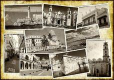Vieilles cartes postales de La Havane Photographie stock libre de droits
