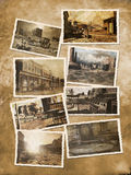 Vieilles cartes postales occidentales Photo stock