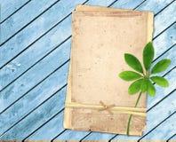 Vieilles cartes sur les planches en bois Images stock