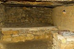 Vieilles catacombes Odessa Images libres de droits