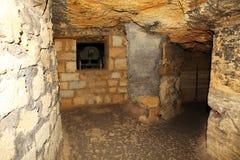 Vieilles catacombes Odessa, Ukraine (siècle de XVIII-XX) images stock