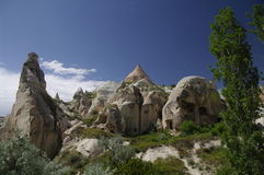 Vieilles cavernes, Cappadocia, Turquie Photos libres de droits