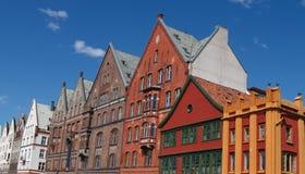 Vieilles Chambres traditionnelles à Bergen, Norvège Photos stock