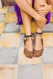 Vieilles chaussures élégantes Photos stock