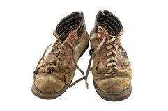 Vieilles chaussures Image stock