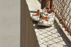Vieilles chaussures Photographie stock