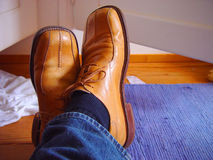 Vieilles chaussures Images stock