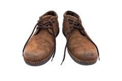 Vieilles chaussures brunes Images libres de droits
