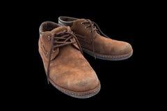 Vieilles chaussures brunes Photo libre de droits