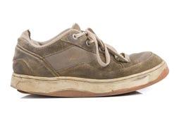 Vieilles chaussures de formation Photographie stock libre de droits