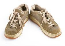 Vieilles chaussures de formation Images libres de droits