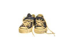 Vieilles chaussures de Jean Photographie stock