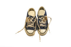 Vieilles chaussures de Jean Image stock