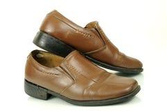 Vieilles chaussures en cuir images libres de droits