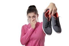 Vieilles chaussures puantes Photographie stock libre de droits