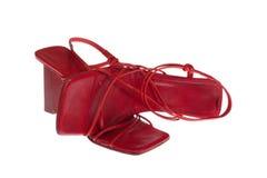 Vieilles chaussures rouges images libres de droits
