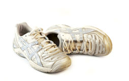 vieilles chaussures sportives Photo stock