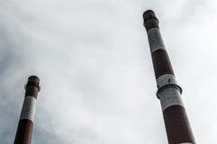 Vieilles cheminées Silésie Photo stock